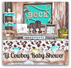 cowboy baby shower theme party | Party Themes