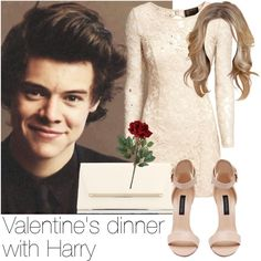 Valentine's dinner with Harry by style-with-one-direction on Polyvore featuring H&M, Forever New, Jimmy Choo, OneDirection, harrystyles, 1d and harry styles one direction 1d