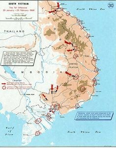 Map Of Major US Air Force Bases In South Vietnam During The - Map of us military bases in vietnam