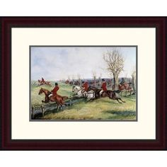 "Global Gallery 'Gone Away' by Henry Thomas Alken Framed Painting Print Size: 19.09"" H x 24"" W x 1.5"" D"