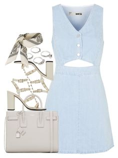 """Untitled #67"" by rlbabe ❤ liked on Polyvore featuring Topshop, Yves Saint Laurent, Valentino and Lauren Klassen"