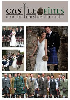 A castle, loch, kilt and bagpipes...can there be anything more romantic than a Scottish wedding? How many grooms out there would wear a kilt? Remember guys, women LOVE men in kilts! castlepinesfarm.com   #castlepinestn
