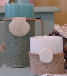 Karen's Garden Cottage: Come Play in the Sand...A Tutorial on Making Sand Candles!