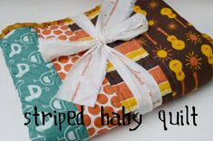 Striped Baby Quilt Pattern