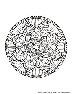 Dover Coloring Book - Mystical Mandala Coloring Book_0033 (540x700, 249Kb)