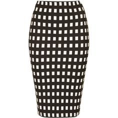TOPSHOP Petite Monochrome Gingham Tube Skirt ($12) ❤ liked on Polyvore featuring skirts, black, petite, petite skirts, tube skirts, elastic waist skirt, gingham skirt and topshop skirts