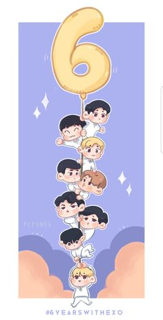 I'm so proud to be part of this family, thanks to exo for inspire me and make me feel happy, you mean the world to me ♡ #6yearswithexo #exo #exofanart #chen #kai #kyungsoo #sehun #suho #ba...