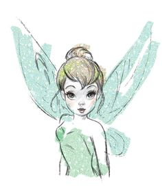 Tinkerbell - very beautiful Tinkerbell.  I don't know who the artist is, but thank you to them! ;  Tink, Tinker Bell