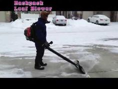 Air Jet Shovel attached to Backpack Leaf Blower - YouTube