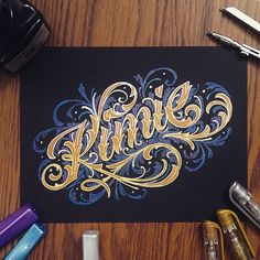 Kimie - #lettering #calligraphy #typography