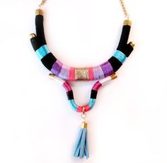 Hey, I found this really awesome Etsy listing at https://www.etsy.com/listing/183421357/rope-necklace-tribal-tassel-bohemian