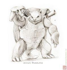#009 Blastoise   Drawings of Pokémon