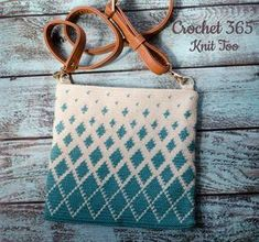 FREE CROCHET PATTERN - Titan Tapestry Crochet Bag. What a gorgeous tapestry crochet body bag! #tapestrycrochetbag #crochetbag #freecrochetpattern