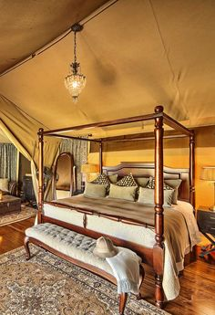 Sand River Masai Mara Camp in Kenya - experience the golden glamour of a 1920s safari adventure, truly romantic. Timbuktu Travel.