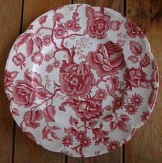 Johnson Brothers Bros Red Pink English Chippendale Dinner Plate #JohnsonBrothers Johnson Brothers China, China Patterns, China Dinnerware, Hope Chest, Dinner Plates, Red And Pink, Decorative Plates, English, Ebay