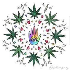 Every human is an artist. And this is the main art that we have: the creation of our story. Don Miguel Ruiz. 🌱🌱 Dope art by Cannabis, Weed Art, Puff And Pass, Dope Art, Bongs, Trippy, Psychedelic, Artsy, Herbs