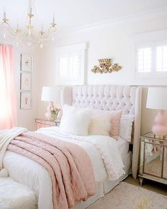 Pink and Gold Girls Bedroom Makeover Randi Garrett Design White And Gold Bedroom Home Design Ideas, Pictures, Remodel and Decor 35 Gorgeous. Dream Rooms, Dream Bedroom, Diy Bedroom, Design Bedroom, Bedroom Girls, Trendy Bedroom, Bedroom Modern, Girl Rooms, Blush Bedroom