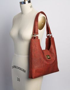 f539f8513c6a A classic and chic shoulder bag. Handmade from eco-friendly cork. Cork  fabric