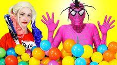 Elsa & Spiderman Vs Pink Spidergirl-Elsa- Elsa Frozen- Spider-Spiderman-...