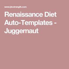 Renaissance diet auto templates macros pinterest shops diet and renaissance for Renaissance periodization auto templates download