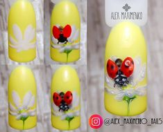 "#nailarttutorial #ladybugnailart - МАНИКЮР: уроки и МК (@nails_by_steps) on Instagram: ""@alex_maximenko_nails - МК ""Божья коровка"") В данном дизайне использовала: Фон - NanLac 2100;…"""