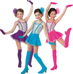 15314 Show Stopper (Purple, Turquoise or Flo-Cerise): Show Kids