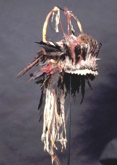 White Swan's bonnet, Crow, from old L A County Museum