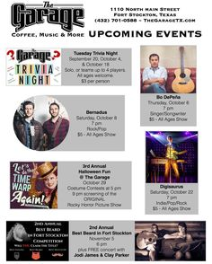 Are you ready for the next month of activities & concerts we have planned for you? :D