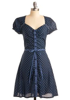 Thanks a Dot Dress  Such a cute dress. Would look great paired with white pumps and a floppy straw hat.