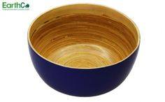EarthCo - Bamboo Salad Bowl (Lavendar Outer/ Natural Inner), Made from eco-friendly high quality spun bamboo with lacquer finish, bowl is lightweight, durable, great for indoor and outdoor use