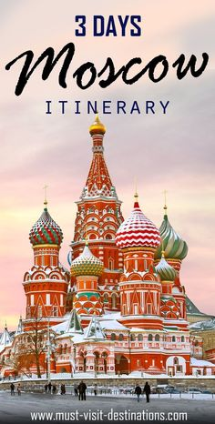 Planning a trip of 3 days in Moscow? Then you are heading towards the most awesome trip of your life. Here are some things to do in Moscow in 3 Days.