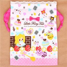 Alice in Wonderland fairy tale bento pouch lunch bag Japan