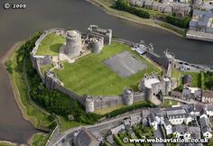 Pembroke Castle, Wales Belonged to the Marshal family. Centuries later, given to Jasper Tudor, who brought Lady Margaret Beaufort (widow to his brother Edmund Tudor) to give birth to future King Henry Tudor VII