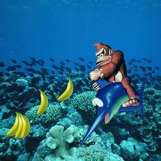 E se os games invadissem a vida real? Já imaginou como seria Donkey Kong na fase aquática? Nós mostramos pra vocês! #Game #Nintendo #DonkeyKong