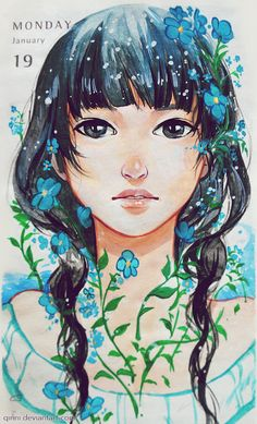 Forget me not. by Qinni on DeviantArt