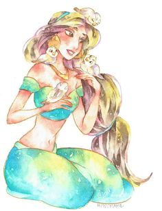 Princess Jasmine, this is so beautiful.. Looks like the artist is Mitsumame?