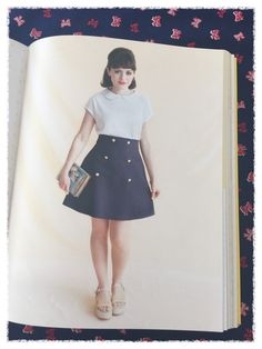 Tilly and the buttons Delphine skirt - Ditsy-tulip