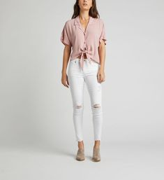tie waist button down shirt and jeans - Google Search White Jeans, Button Down Shirt, Buttons, Pants, Shirts, Tie, Google Search, Fashion, Trouser Pants