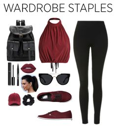 """""""Comfy but Cute"""" by gracefully-artistic on Polyvore featuring Topshop, Vans, Lime Crime, Trish McEvoy, Chanel, Quay, Berry, Leggings and WardrobeStaples"""