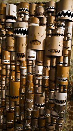 art-and-chocolate-x-Daniel-Rolnik-Los-Angeles-exhibit-cardboard-tiki-3