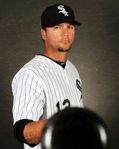 Catcher A.J. Pierzynski of the Chicago White Sox poses during spring training photo day. #MLB #Baseball #WhiteSox http://www.fansedge.com/AJ-Pierzynski-Chicago-White-Sox-332012-_180708985_PD.html?social=pinterest_mlb_32812_aj