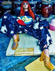 Sunghee Kim Goes To Market, Lensed By Hong Jang Hyun For W Magazine Korea September2015 - 3 Sensual Fashion Editorials | Art Exhibits - Women's Fashion & Lifestyle News From Anne of Carversville