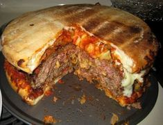 Cheeseburger + Pizza + Bacon = The Artery Abomination