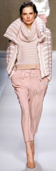 Like the jacket & sweater style....I'd love it in Black & Grey or Black & Chocolate    (Blumarine 2013-14 Fall Winter)
