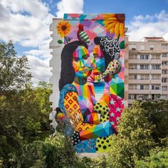 Okuda in Mannheim, Germany, 2019 Murals Street Art, Graffiti Art, Graffiti Tagging, Street Art Love, Okuda, Urbane Kunst, Art And Illustration, Street Artists, Urban Art