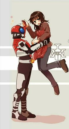 Tendou and Hiyori Kamen Rider Gaim, Kamen Rider Kabuto, Kamen Rider Series, Anime Cat, Shows, Manga Games, Power Rangers, Gundam, Chibi