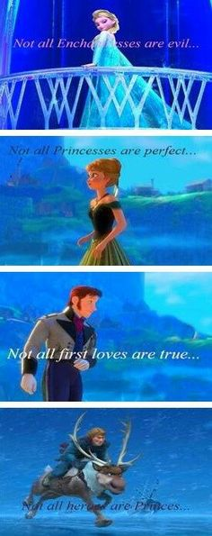 "Disney made an awkward ""prince"" and princess. A queen who wasn't evil. And a first love was broken and not real. I mean come-on doesn´t this make ""Frozen"" one of the best Disney movie ever made? Disney Pixar, Walt Disney, Disney And Dreamworks, Disney Love, Disney Magic, Disney Frozen, Disney Characters, Funny Disney, Disney Stuff"