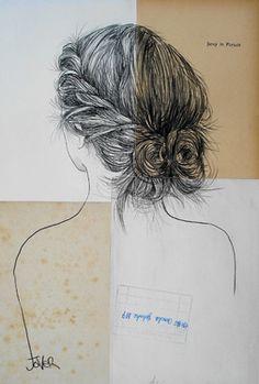 "Saatchi Online Artist Loui Jover; Drawing, ""aspect of nothingness (SOLD)"" #art"