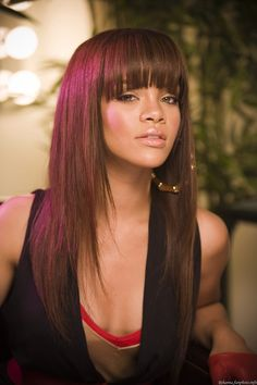 Love rihannas old hairstyle. I'm a sucker for bangs! I love bangs... Bangs bangs BANGS!