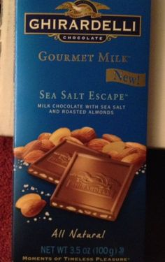 Ghirardelli Sea Salt Escape another Cosmo Voxbox gift. This chocolate melts in your mouth! (Influenster)